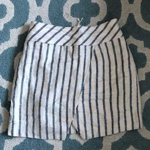 J.Crew Pinstripe Asymmetrical Skirt
